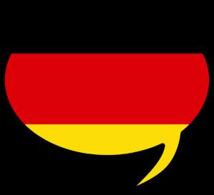 German tutor Ramsbottom speech bubble in flag colours